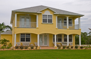residential house with Miami Impact Windows Installed