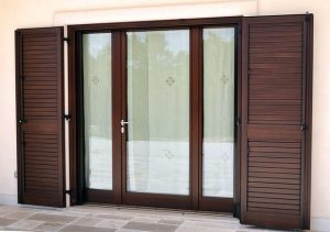 Wood and glass french door